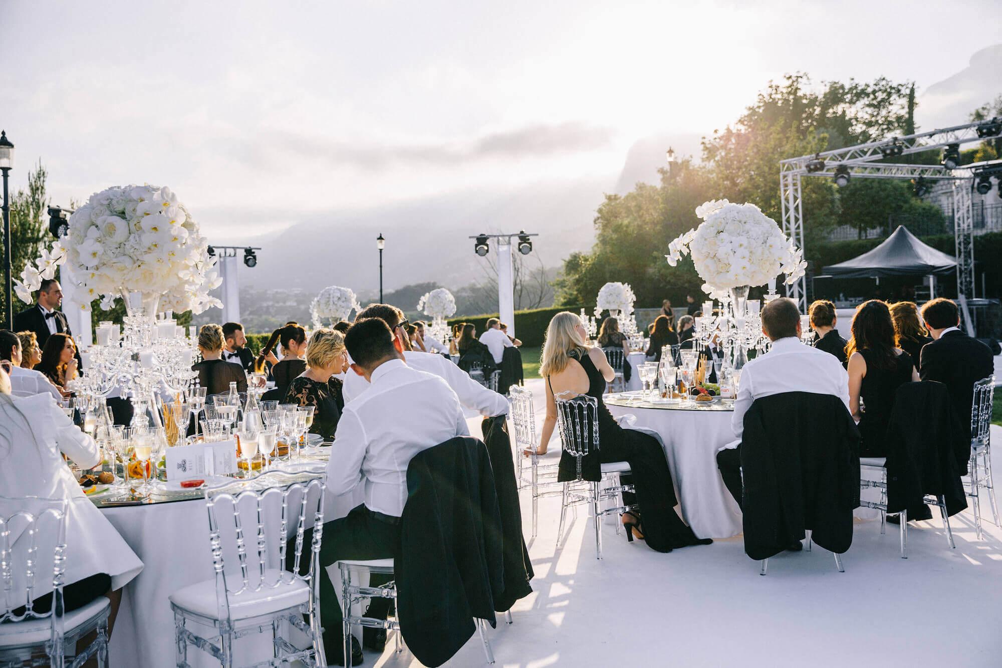Свадьба во Франции под открытым небом